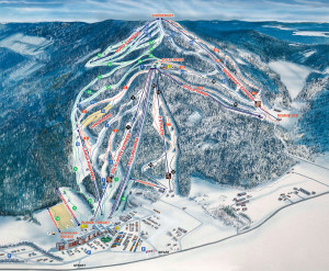 Romme Alpin map