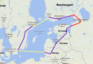 Маршрут вокруг Балтики